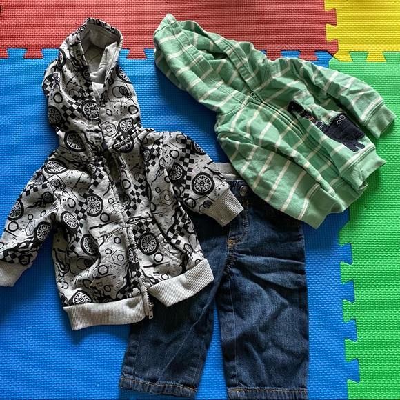 3pcs BUNDLE hoodies and jeans